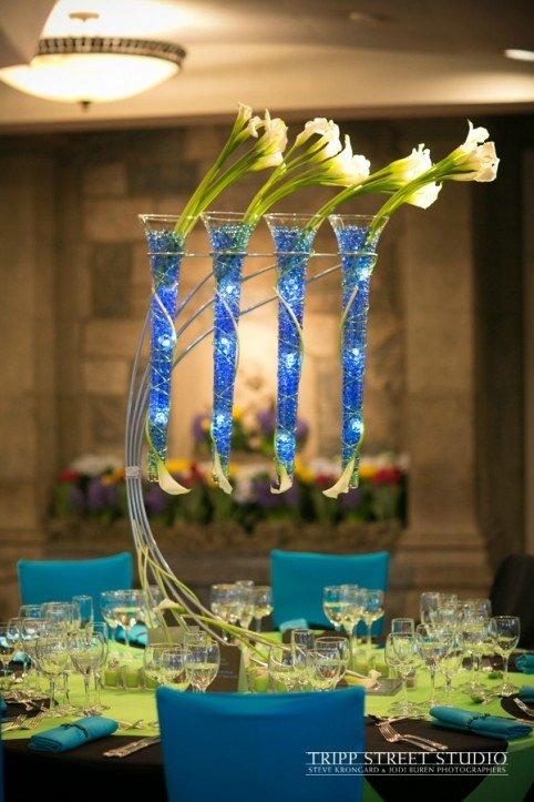Xquisite Flowers and Events New Rochelle Floral Centerpiece Bar Mitzvah