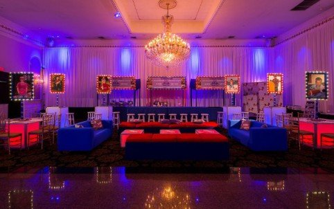 Teen Lounge Area Football Themed Bar Mitzvah | X-Quisite Flowers & Events