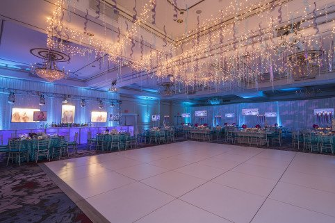 Bat Mitzvah decor and flowers Pearl River Hilton Westchester Event Decor X-Quisite Flowers and Events