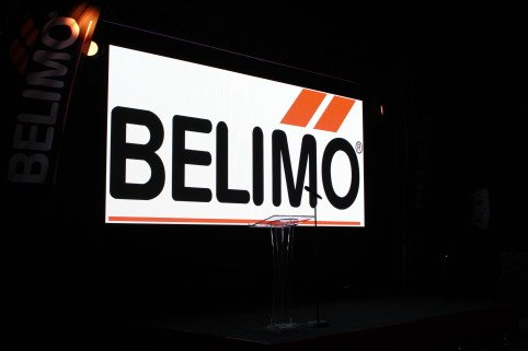 LED screen with the Belimo blog