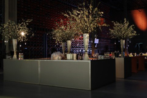 Uplit industrial bar created for a warehouse corporate party
