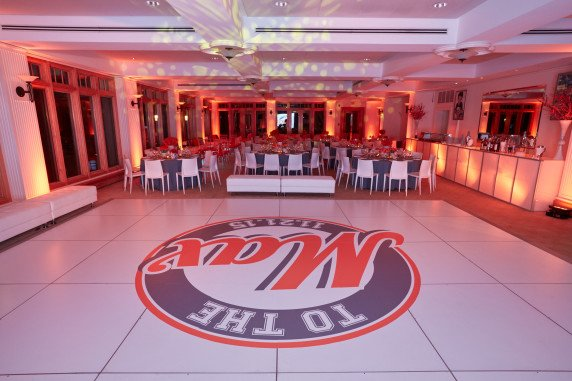 Custom Dance Floor To The Max Basketball Bar Mitzvah LED Screen Party Decorations