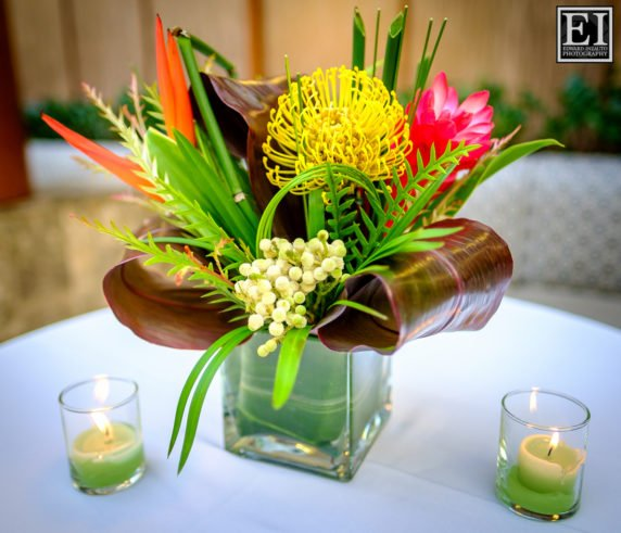 Tropical Floral Arrangements For A Dream Gala Fundraiser